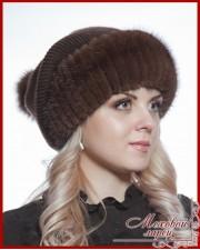 шапки из вязаной норки интернет магазин меховой ларец