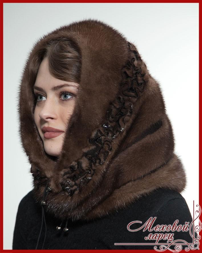Головной убор, мн-п зимний головной убор женский сделан из меха норки, цвет: таким образом, меховой капор совмещает в себе две вещи: эта модель имеет мягкую форму, изготовлена из цельной шкурки.