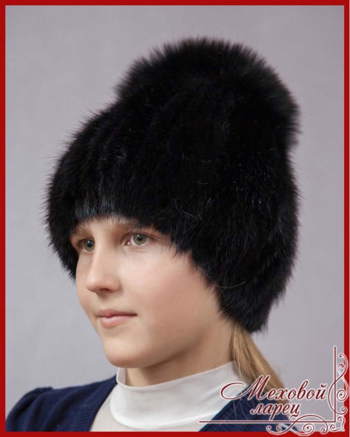 синди детские шапки трикотажная основа из норки интернет