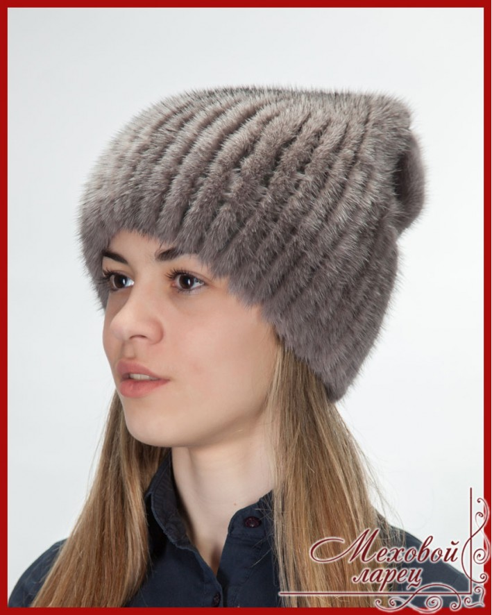 Бант | Женские шапки, трикотажная основа - норка на ...