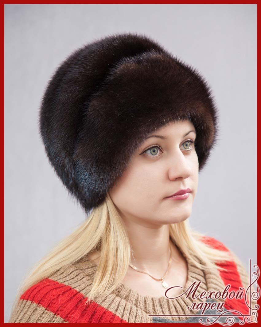 Мех норка шапка женская