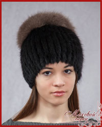 Вязаные женские шапки зима 2014